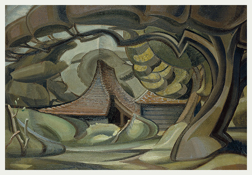Curved_barn_by_ivon_hitchens
