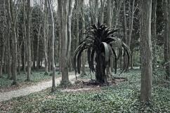 Douglas White Icarus Palm Sculpture at Cass Sculpture Park Sussex
