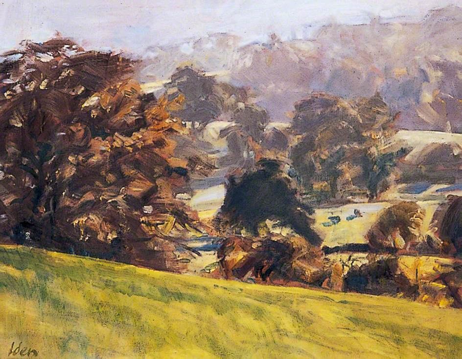 Painting of Autumn Light, near Bepton, West Sussex by artist Peter Iden