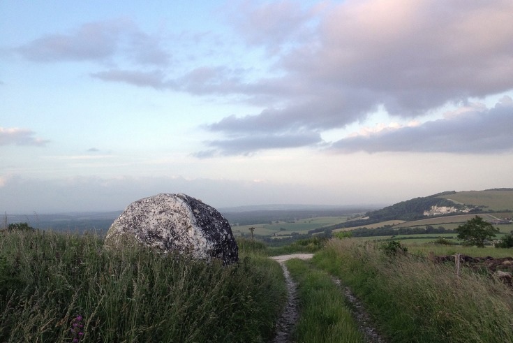 Chalk ball on The South Downs Way above Cocking
