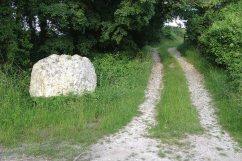 Andy Goldsworthy chalk stones trail stone 6