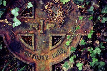 1900 RIP Iron Gravestone at Treyford Cemetery