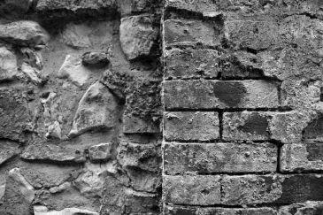18th Century brick and flint repairs to Treyford Church