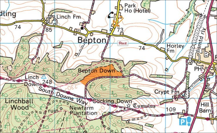 Bepton Down Map