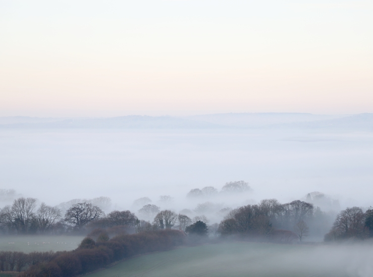 Fog from the South Downs